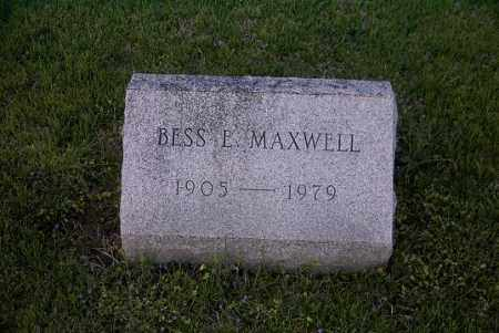 MAXWELL, BESS E. - Ross County, Ohio | BESS E. MAXWELL - Ohio Gravestone Photos