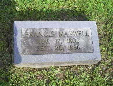 MAXWELL, FRANCIS - Ross County, Ohio | FRANCIS MAXWELL - Ohio Gravestone Photos