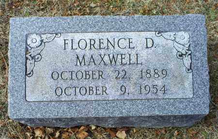 MAXWELL, FLORENCE D. - Ross County, Ohio | FLORENCE D. MAXWELL - Ohio Gravestone Photos