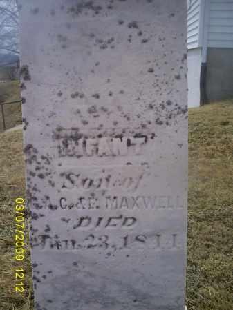 MAXWELL, INFANT - Ross County, Ohio   INFANT MAXWELL - Ohio Gravestone Photos
