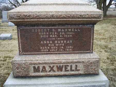 MURRAY MAXWELL, ANNA - Ross County, Ohio | ANNA MURRAY MAXWELL - Ohio Gravestone Photos