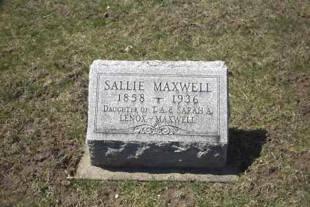 MAXWELL, SALLIE - Ross County, Ohio | SALLIE MAXWELL - Ohio Gravestone Photos