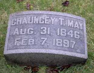 MAY, CHAUNCEY T. - Ross County, Ohio | CHAUNCEY T. MAY - Ohio Gravestone Photos