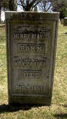 MAY, HENRY - Ross County, Ohio | HENRY MAY - Ohio Gravestone Photos