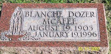 MCAFEE, BLANCHE - Ross County, Ohio | BLANCHE MCAFEE - Ohio Gravestone Photos