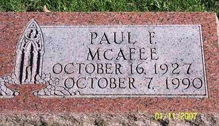 MCAFFEE, PAUL F. - Ross County, Ohio | PAUL F. MCAFFEE - Ohio Gravestone Photos