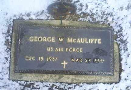MCAULIFFE, GEORGE W. - Ross County, Ohio | GEORGE W. MCAULIFFE - Ohio Gravestone Photos