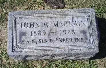MCCLAIN, JOHN W. - Ross County, Ohio | JOHN W. MCCLAIN - Ohio Gravestone Photos