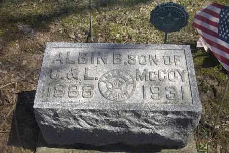 MCCOY, ALBIN B. - Ross County, Ohio | ALBIN B. MCCOY - Ohio Gravestone Photos