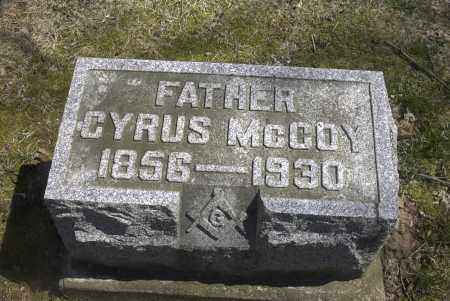 MCCOY, CYRUS - Ross County, Ohio | CYRUS MCCOY - Ohio Gravestone Photos