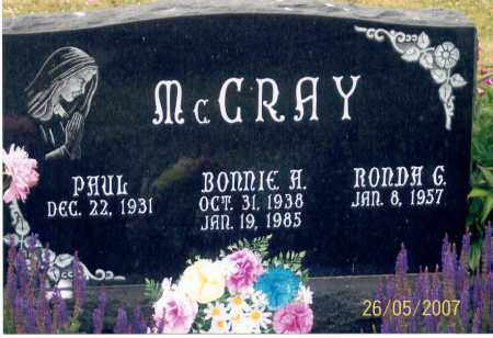 MCCRAY, RONDA G. - Ross County, Ohio | RONDA G. MCCRAY - Ohio Gravestone Photos