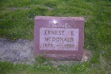 MCDONALD, ERNEST E. - Ross County, Ohio | ERNEST E. MCDONALD - Ohio Gravestone Photos