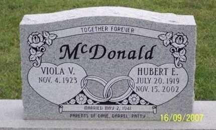 MCDONALD, HUBERT E. - Ross County, Ohio | HUBERT E. MCDONALD - Ohio Gravestone Photos