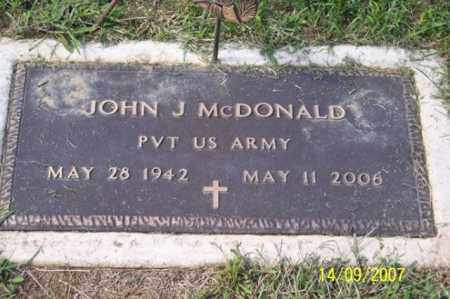 MCDONALD, JOHN J. - Ross County, Ohio | JOHN J. MCDONALD - Ohio Gravestone Photos