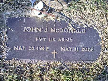 MCDONALD, JOHN J. - Ross County, Ohio | JOHN J. MCDONALD - Ohio Gravestone Photos