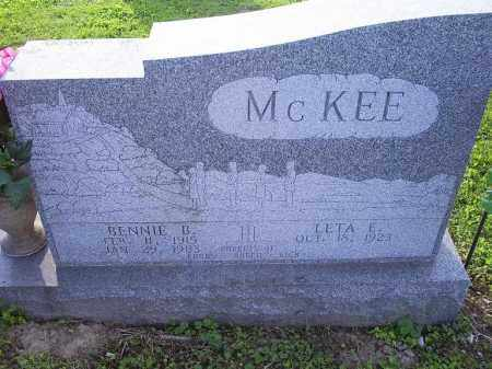 MCKEE, BENNIE B. - Ross County, Ohio | BENNIE B. MCKEE - Ohio Gravestone Photos