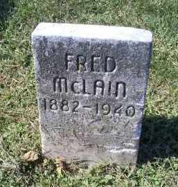 MCLAIN, FRED - Ross County, Ohio | FRED MCLAIN - Ohio Gravestone Photos