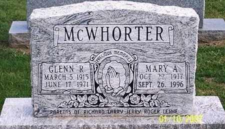 MCWHORTER, GLENN R. - Ross County, Ohio | GLENN R. MCWHORTER - Ohio Gravestone Photos
