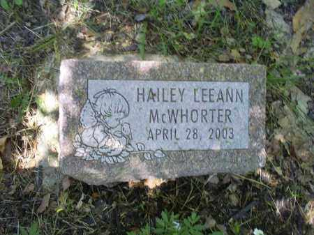 MCWHORTER, HAILEY LEEANN - Ross County, Ohio | HAILEY LEEANN MCWHORTER - Ohio Gravestone Photos