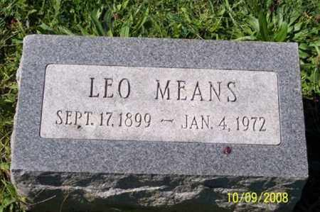 MEANS, LEO - Ross County, Ohio | LEO MEANS - Ohio Gravestone Photos