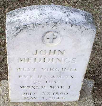 MEDDINGS, JOHN - Ross County, Ohio | JOHN MEDDINGS - Ohio Gravestone Photos