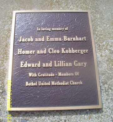 MEMORIAL, BETHEL CHAPEL - Ross County, Ohio | BETHEL CHAPEL MEMORIAL - Ohio Gravestone Photos
