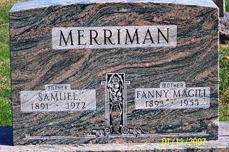 MERRIMAN, FANNY - Ross County, Ohio | FANNY MERRIMAN - Ohio Gravestone Photos