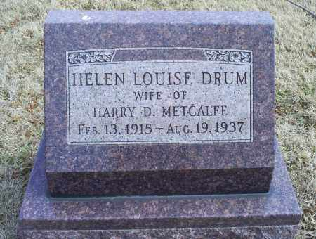 METCALFE, HELEN LOUISE - Ross County, Ohio | HELEN LOUISE METCALFE - Ohio Gravestone Photos