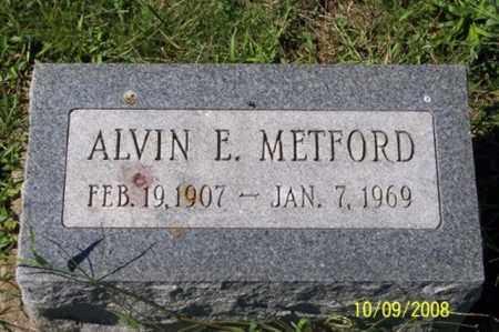 METFORD, ALVIN E. - Ross County, Ohio | ALVIN E. METFORD - Ohio Gravestone Photos