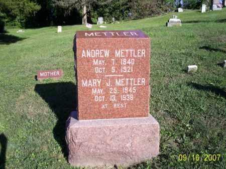 METTLER, ANDREW - Ross County, Ohio | ANDREW METTLER - Ohio Gravestone Photos