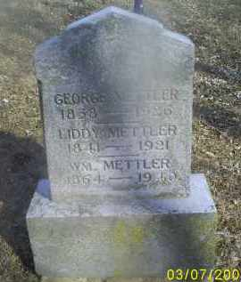 METTLER, LIDDY - Ross County, Ohio | LIDDY METTLER - Ohio Gravestone Photos