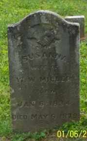 MILLER, SUSANNA - Ross County, Ohio | SUSANNA MILLER - Ohio Gravestone Photos