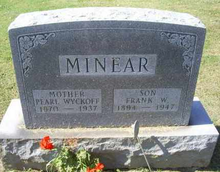 MINEAR, FRANK W. - Ross County, Ohio | FRANK W. MINEAR - Ohio Gravestone Photos