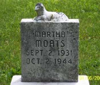 MOATS, MARTHA - Ross County, Ohio | MARTHA MOATS - Ohio Gravestone Photos