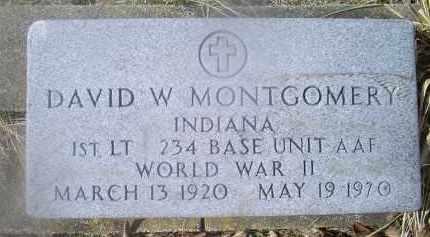 MONTGOMERY, DAVID W. - Ross County, Ohio | DAVID W. MONTGOMERY - Ohio Gravestone Photos