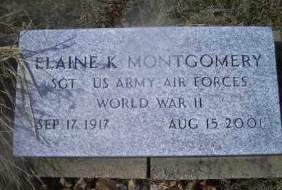 MONTGOMERY, ELAINE K. - Ross County, Ohio | ELAINE K. MONTGOMERY - Ohio Gravestone Photos