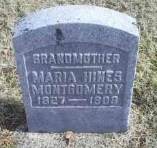 HINES MONTGOMERY, MARIA - Ross County, Ohio | MARIA HINES MONTGOMERY - Ohio Gravestone Photos