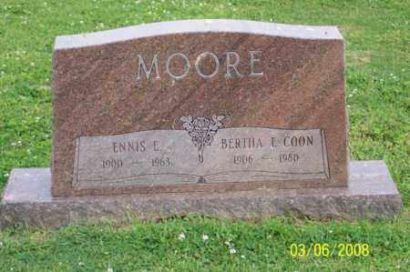 MOORE, ENNIS E. - Ross County, Ohio | ENNIS E. MOORE - Ohio Gravestone Photos