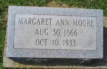 MOORE, MARGARET ANN - Ross County, Ohio | MARGARET ANN MOORE - Ohio Gravestone Photos