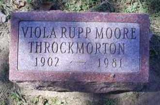RUPP MOORE THROCKMORTON, VIOLA - Ross County, Ohio | VIOLA RUPP MOORE THROCKMORTON - Ohio Gravestone Photos