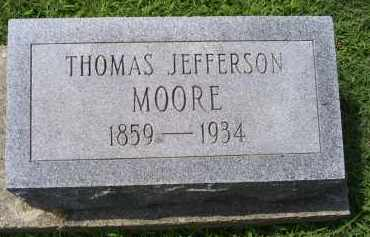 MOORRE, THOMAS JEFFERSON - Ross County, Ohio | THOMAS JEFFERSON MOORRE - Ohio Gravestone Photos