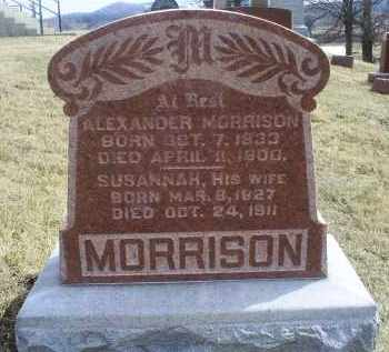MORRISON, SUSANNAH - Ross County, Ohio | SUSANNAH MORRISON - Ohio Gravestone Photos
