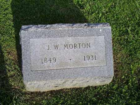 MORTON, J.W. - Ross County, Ohio | J.W. MORTON - Ohio Gravestone Photos
