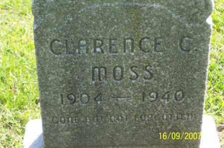 MOSS, CLARENCE C. - Ross County, Ohio | CLARENCE C. MOSS - Ohio Gravestone Photos