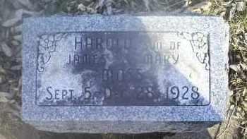 MOSS, HAROLD - Ross County, Ohio | HAROLD MOSS - Ohio Gravestone Photos