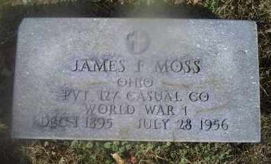 MOSS, JAMES F. - Ross County, Ohio | JAMES F. MOSS - Ohio Gravestone Photos