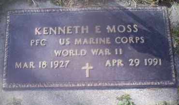 MOSS, KENNETH E. - Ross County, Ohio | KENNETH E. MOSS - Ohio Gravestone Photos