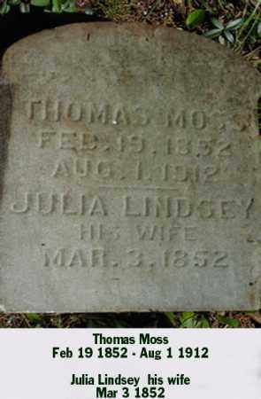 LINDSEY MOSS, JULIA - Ross County, Ohio | JULIA LINDSEY MOSS - Ohio Gravestone Photos