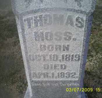 MOSS, THOMAS - Ross County, Ohio | THOMAS MOSS - Ohio Gravestone Photos