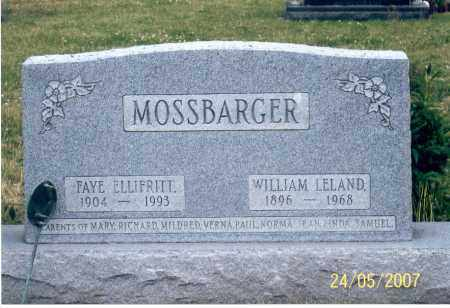 ELLIFRITT MOSSBARGER, FAYE - Ross County, Ohio | FAYE ELLIFRITT MOSSBARGER - Ohio Gravestone Photos